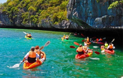 Ang Thong National Marine Park kayaking