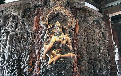 Carved detail at the Sanctuary of Truth