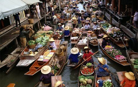 Floating Market & Elephant Ride & Fishing Village