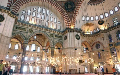 Suleiman Mosque Interior